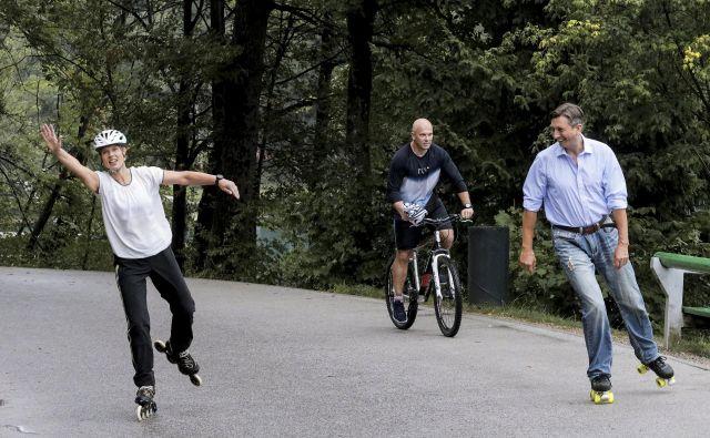Borut Pahor kotalka z estonsko predsednico. FOTO: Sta
