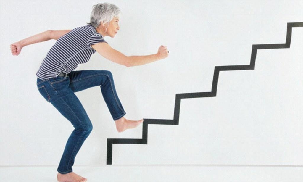 Resnice o hoji po stopnicah