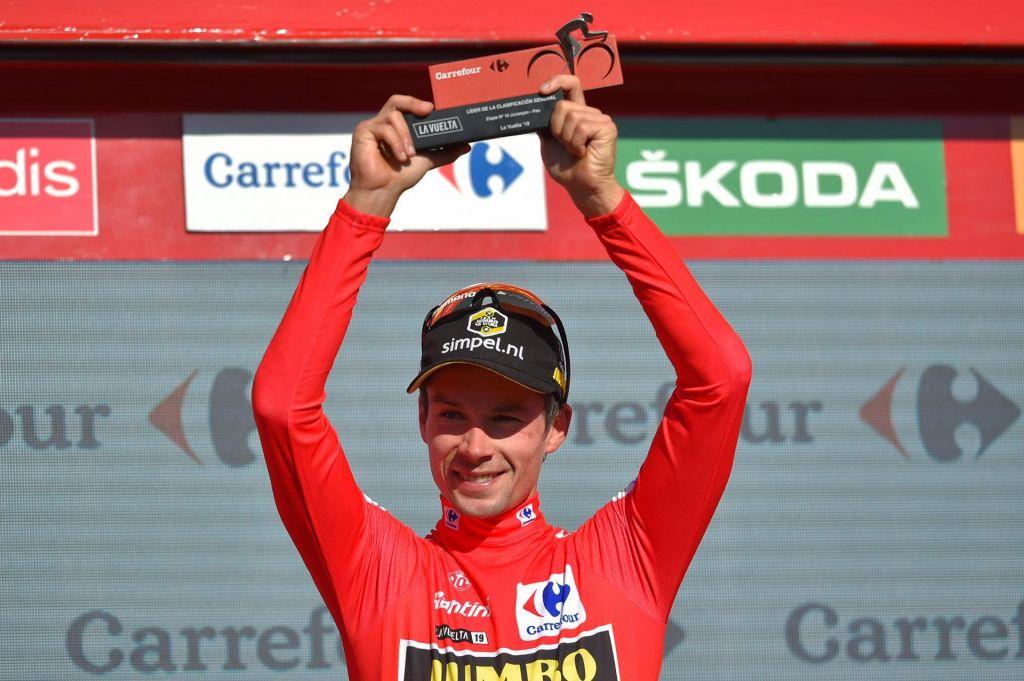 FOTO:Roglič zmagal v kronometru in prevzel vodstvo na Vuelti