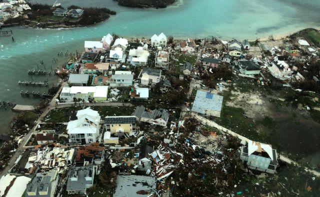 Pogled na otoke Abaco po orkanu. FOTO: Reuters
