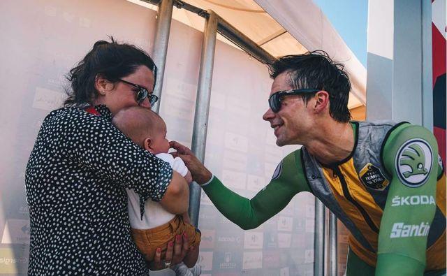 Primož, Lev in Lora. Foto: La Vuelta, Sarah Meyssonnier