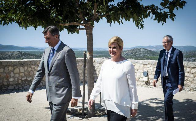 Novinarska konferenca po tristranskem srečanju predsednikov je pokazala, da so ostali vsak na svoji strani. FOTO: Nikolina Vuković Stipanićev/ Cropix
