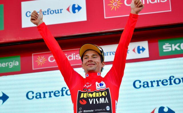 Primož Roglič je v 11. etapi brez težav ubranil rdečo majico, vendar je bilo to le zatišje pred nevihto v drugi polovici dirke. FOTO: AFP