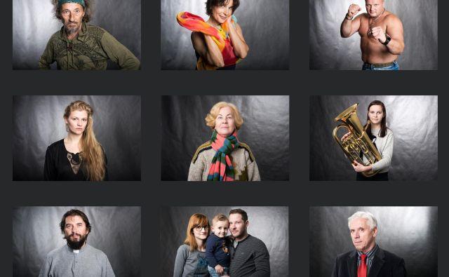 V štirih letih se je nabralo okoli štiristo portretov Slovenjgradčanov. FOTO: Katja Goljat