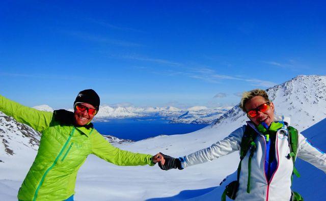 Petra in Žana, noro navdušeni nad Norveško, kamor se še nameravata vrniti. Foto osebni arhiv P. V.