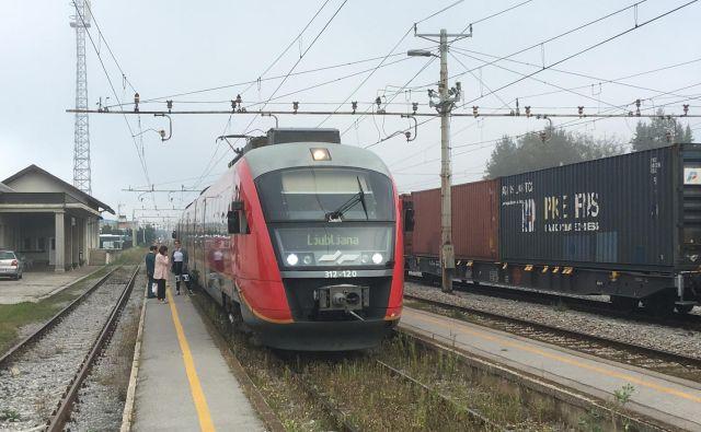 Vlaki so obstali tudi na postaji v ljubljanskih Vižmarjah. FOTO: Uroš Hočevar/Delo