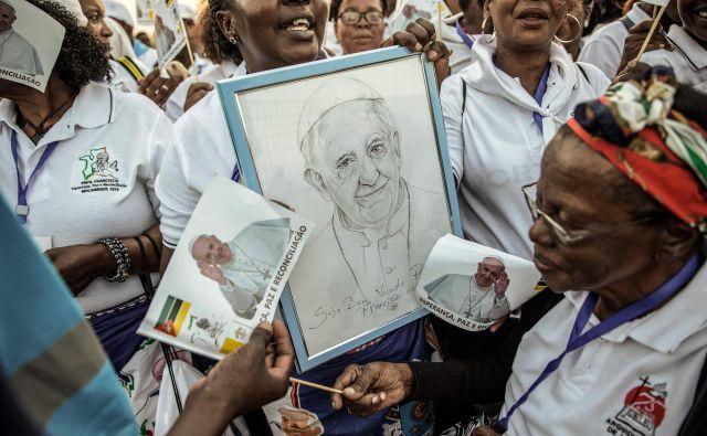 Na afriški celini živi 17,8 odstotka vseh katolikov na svetu. Foto AFP