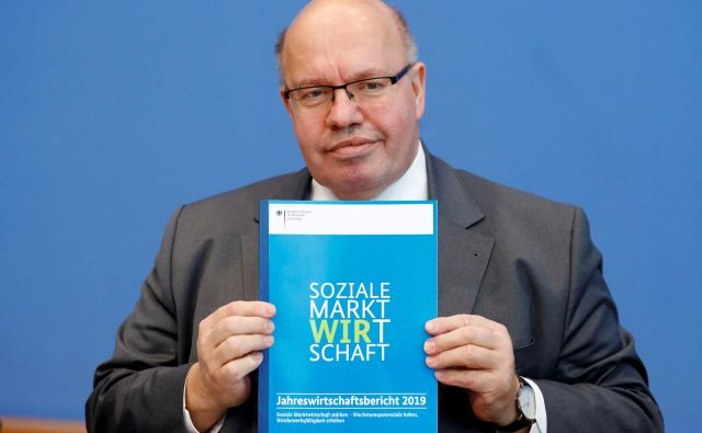 »Počakati moramo, kako se bosta odvili tretje in četrto četrtletje. Pričakujemo zmerno rast v vsem letu 2019, pravi Peter Altmaier, nemški minister za gospodarstvo. Foto Reuters