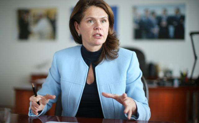 Alenka Bratušek ministrica za infrastrukturo. FOTO: Jure Eržen/delo