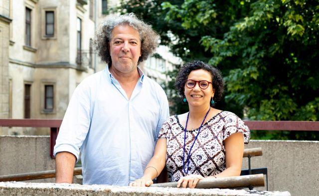 Adel Esadani in Dunia Benslimane v Ljubljani FOTO: Nada Žgank