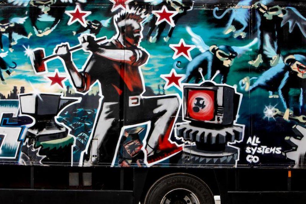 Bo Banksyjev poslikani tovornjak postavil nov cenovni rekord?