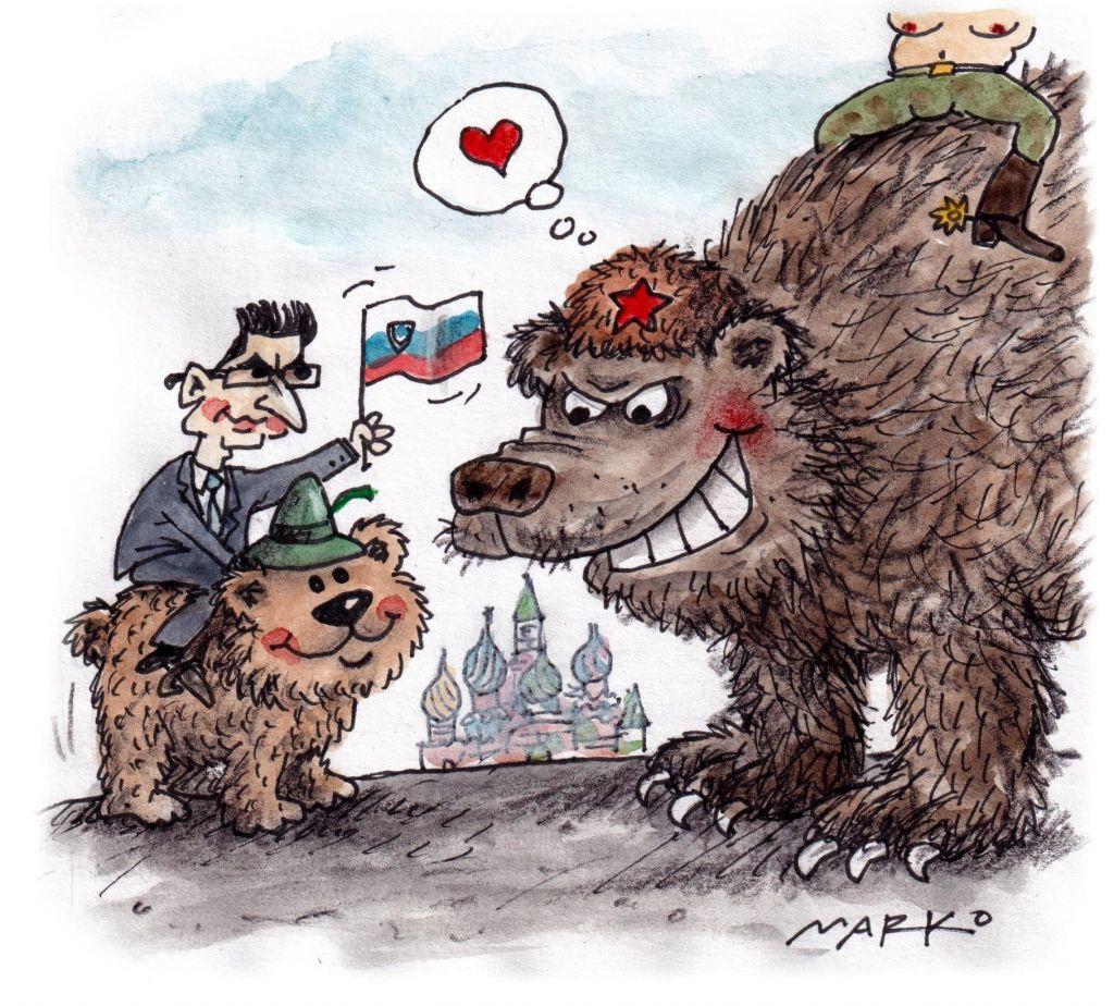 Pozor, območje medveda