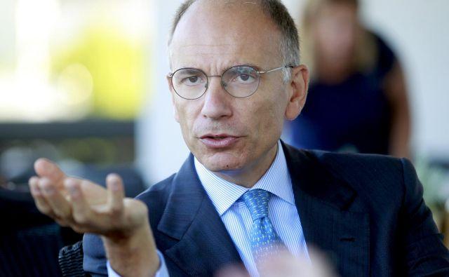 Enrico Letta, po izobrazbi politolog, je vodil italijansko vlado med letoma 2013 in 2014. Foto Roman Šipić