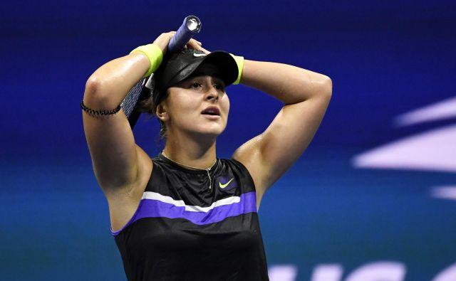 Bianca Andreescu ni mogla verjeti, kaj ji je uspelo. FOTO: Usa Today Sports