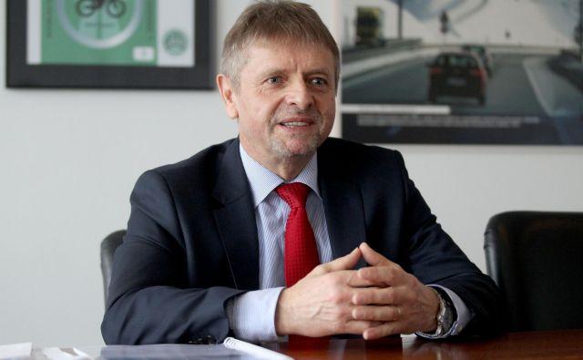 Usodo predsednika uprave Darsa Tomaža Vidica bosta verjetno določala tudi dva velika projekta: nova cev predora Karavanke in tretja razvojna os. Foto Roman Šipić