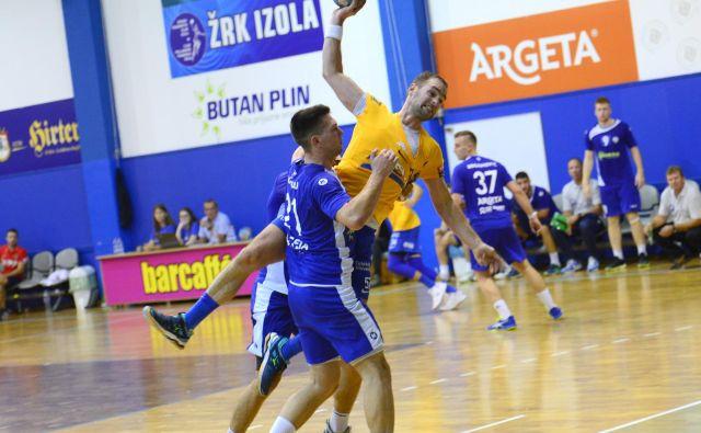 Patrik Leban je za svoj 30. rojstni dan dosegel pet golov iz petih poskusov za Celje v Izoli. FOTO: Slavko Kolar