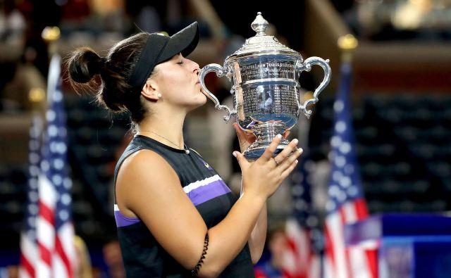 Bianca Andreescu je postala prva zmagovalka turnirja za veliki slam, ki je bila rojena leta 2000. FOTO: Usa Today Sports