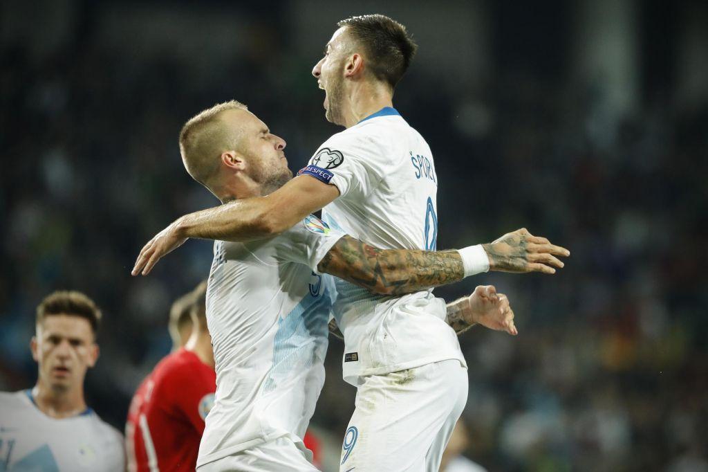 FOTO:Aljaž Struna in Andraž Šporar zabila za veliko zmago Slovenije