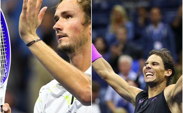 Danil Medvedjev in Rafael Nadal sta finalista US Opna. FOTO: Delo