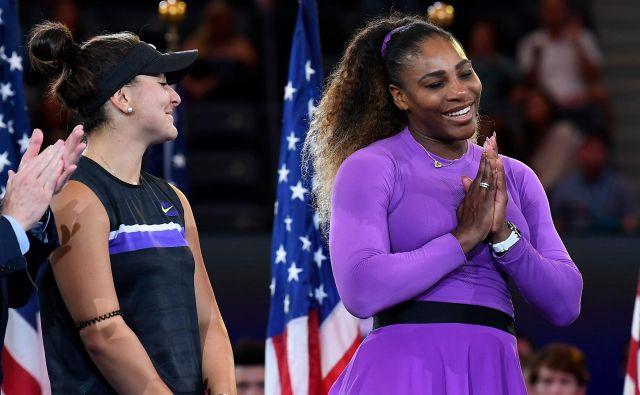 Sereni Williams (desno) se je spet izmaknil 24. naslov za grand slam, svojega prvega pa je osvojila Bianca Andreescu. FOTO: Usa Today Sports