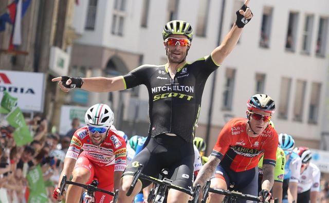 Luka Mezgec je letos kolesaril v izjemni formi, slavil je eno zmago na dirki po Sloveniji in dve na dirki po Poljski, dirka po Španiji pa se je zanj končala nesrečno. FOTO: Tomi Lombar/Delo