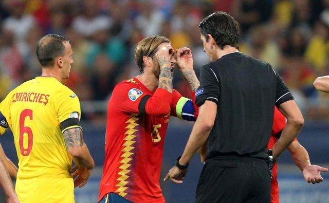 Sergio Ramos je bojevit, nepopustljiv in tudi vztrajen pri prrepričevanju sodnikov v svoj prav. FOTO: Reuters