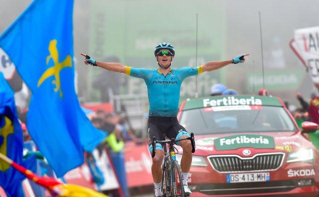 Jakob Fuglsang je prvič zmagal v eni izmed etap tritedenskih dirk. Foto: AFP