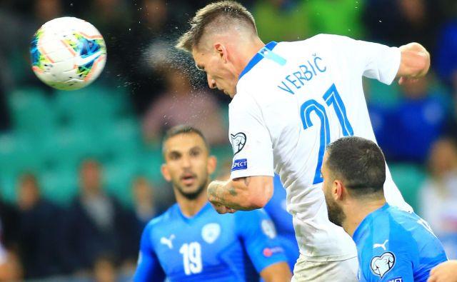 Benjamin Verbič je Sloveniji pripeljal zmago. FOTO: Tomi Lombar/Delo