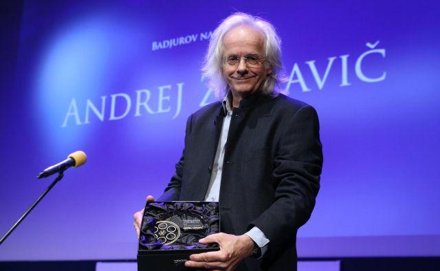 Dobitnik Badjurjeve nagrade Andrej Zdravič. FOTO: Jože Suhadolnik