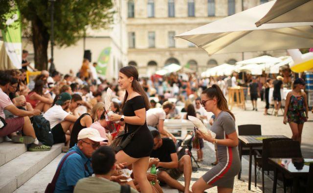 Utrinek iz poletne Ljubljane. Foto Jure Eržen