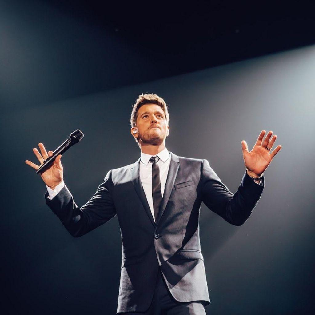 FOTO:Michael Bublé nocoj v zagrebški Areni: »Če ste ljubitelj dinozavrov, pridite na moj šov.«