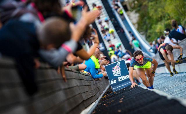 Luka Kovačič drži rekord planiškega tekaškega izziva. FOTO: Samo Vidic