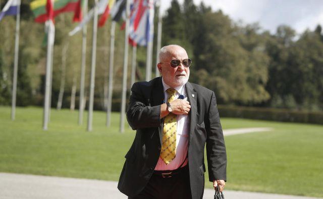 Peter Jožef Česnik: njegova prioriteta so zamejski Slovenci. FOTO: Leon Vidic/Delo