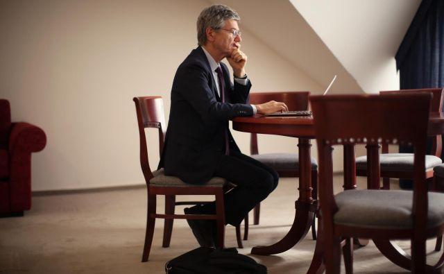 Jeffrey Sachs, ameriški profesor ekonomije Foto: Jure Eržen/Delo