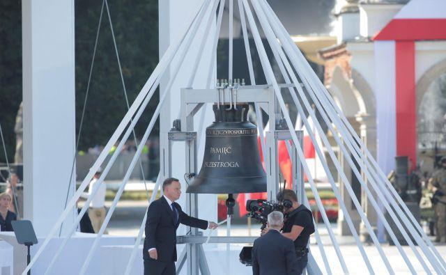 Poljski predsednik Andrzej Duda ob 80. obletnici začetka druge svetovne vojne. FOTO: Reuters