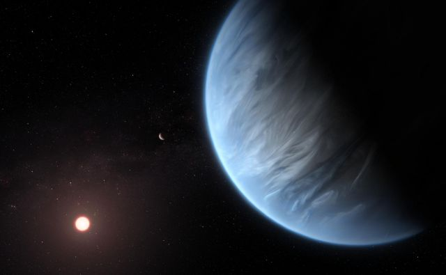 Umetniška upodobitev K2-18b. FOTO: ESA/Hubble, M. Kornmesser