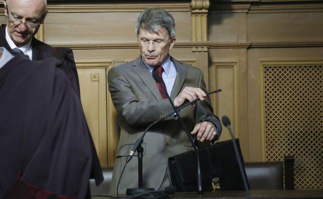 Valant po današnji obravnavi zadeve ni hotel komentirati. FOTO: Leon Vidic/Delo
