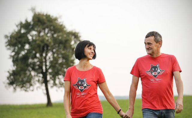 Marjeta in Mirko, veselje v srcu, mirnost v glavi.<br /> FOTO: Uroš Hočevar