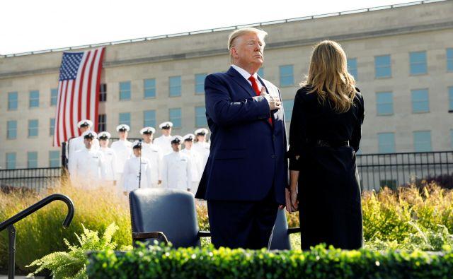 Predsednik Donald Trump in prva dama Melania Foto Reuters