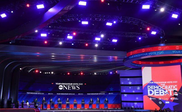 Demokratski izzivalci republikanskega predsednika Donalda Trumpa. FOTO:Robyn Beck/AFP