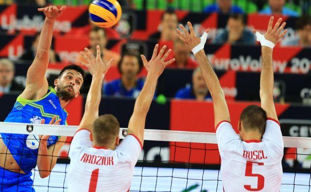 Mitja Gasparini je odlično igral proti beloruskim odbojkarjem. FOTO: Tomi Lombar