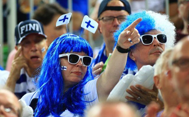 Finski navijači so popestritev evropskega prvenstva v Ljubljani. FOTO:Tomi Lombar