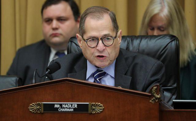 Predsedujoči vplivnega pravosodnega odbora ameriškega predstavnišjkega doma demokrat Jerrold Nadler. FOTO: Jonathan Ernst Reuters