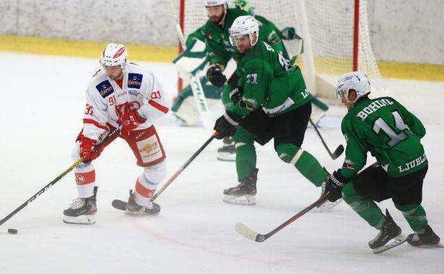Olimpijini hokejisti nikakor niso našli poti do tekmečeve mreže. FOTO: Tomi Lombar