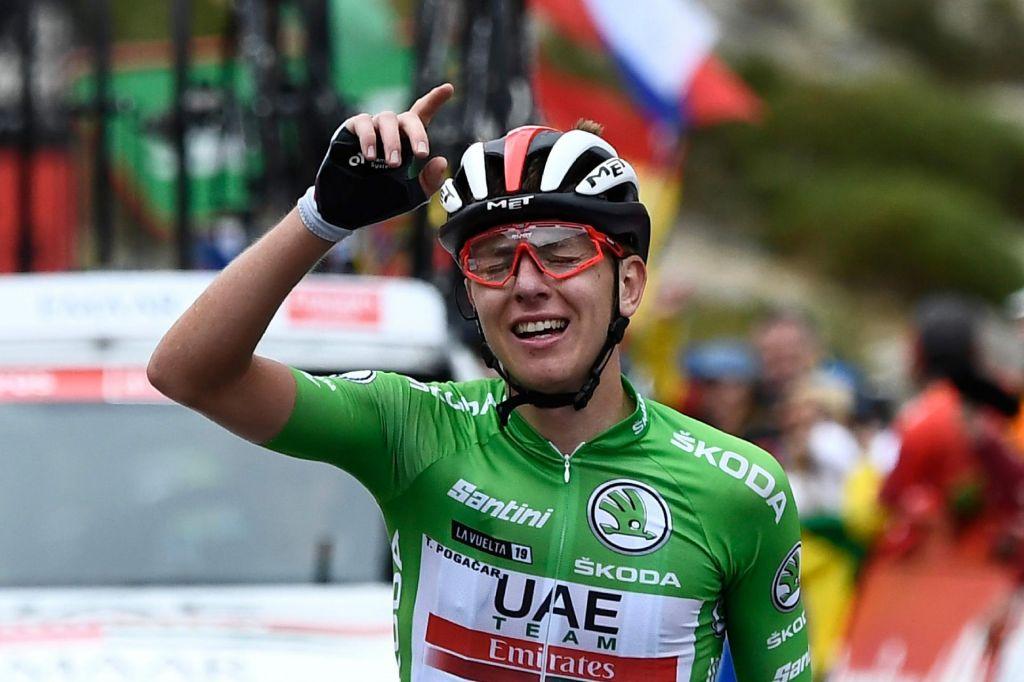 FOTO:Pogačar je zmagovalec etape, Roglič Vuelte