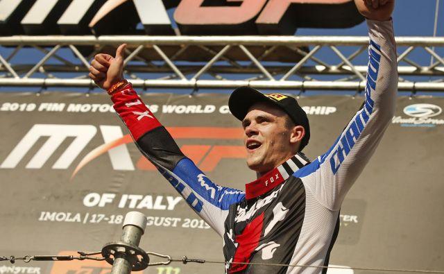 Sezona za svetovno prvenstvo je končana. Tim Gajser je tretjič v karieri svetovni prvak, drugič v najvišjem motokrosističnem razredu MXGP. FOTO: Matej Družnik/Delo