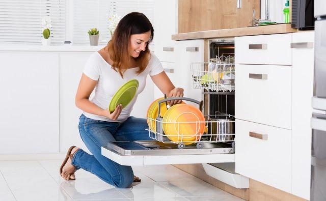 Če v pomivalni stroj posodo zložimo pravilno, potem bomo imeli manj dela z dodatnim drgnjenjem. FOTO: Shutterstock