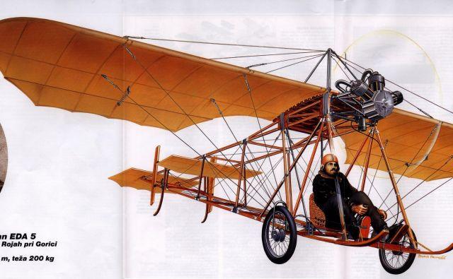 Ob koncu novembra bo minilo 110 let od prvega poleta Edvarda Rusjana. Fotodokumentacija Dela