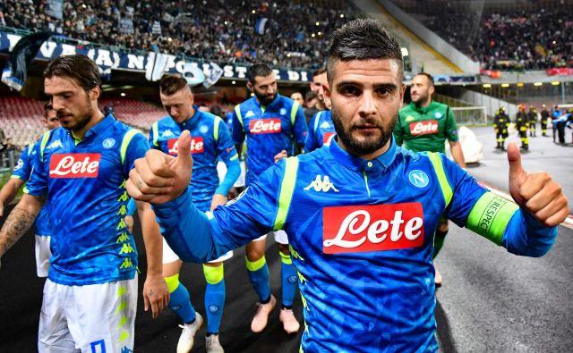 Lorenzo Insigne bo tudi drevi eden glavnih adutov Neapeljčanov v dvoboju z Liverpoolom, ki je bil eden najtesnejših tudi v minuli sezoni lige prvakov. FOTO: AFP