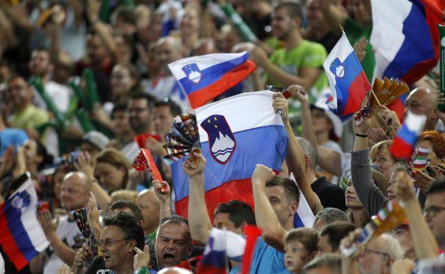 Tudi sedmi slovenski igralec, bučni navijači, niso pomagali do četrte zmage na EP. FOTO: Mavric Pivk/Delo